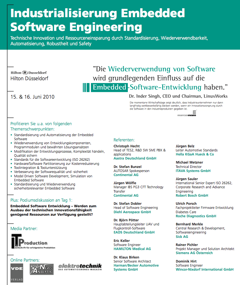Konferenz Embedded Software